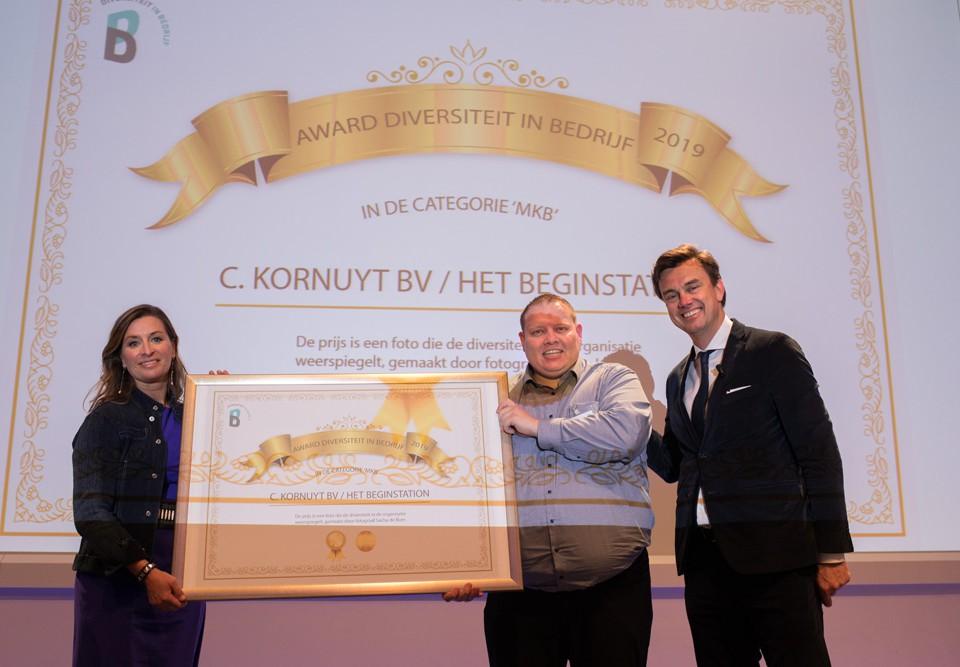 award diversiteit in bedrijf 2019 het Beginstation uitreiking